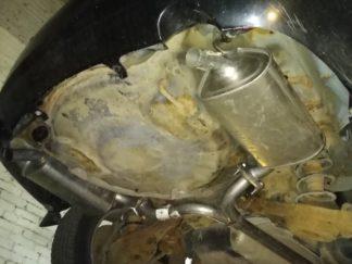 Установка глушителей Мазда 6 2,3 раздвоенный выхлоп