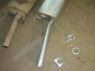 Для установки понадобиться: Кольцо глушителя,хомут,спец болты с пружинами,медные гайки.